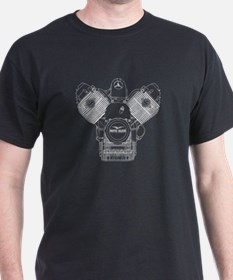 Guzzi Engine T-Shirt (White Engine)
