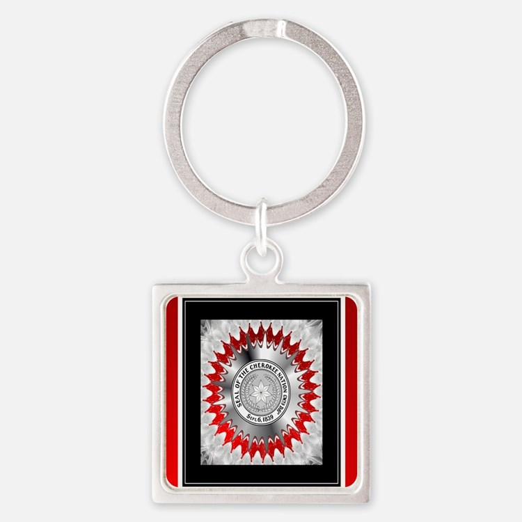 Cherokee Nations Square Keychain