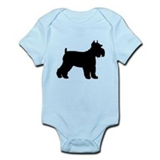 Schnauzer Silhouette Infant Bodysuit