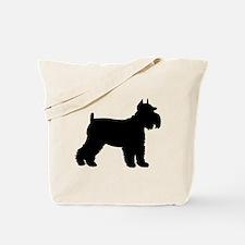Schnauzer Silhouette Tote Bag