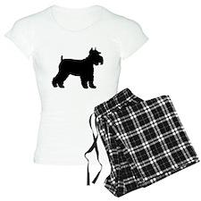 Schnauzer Silhouette Pajamas