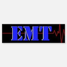 EMT Red Heart Beat Sticker (Bumper)
