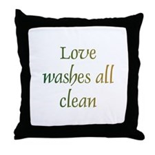 Love Washes All Throw Pillow