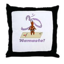 Namaste Fox Yoga Handstand Throw Pillow
