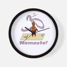 Namaste Fox Yoga Handstand Wall Clock