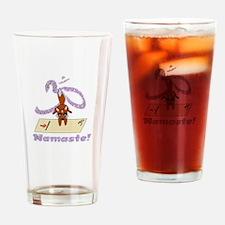 Namaste Fox Yoga Handstand Drinking Glass