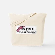 A girl's bestfriend (gun) Tote Bag