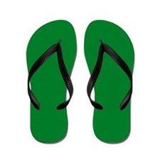 Solid Green Flip Flops