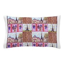 Paris wood grapes pointillism 2 Pillow Case