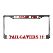 Tailgaters license plate frame (red on white)