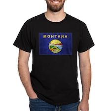 Montana Flag Distressed T-Shirt