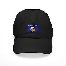 Montana Flag Distressed Baseball Hat