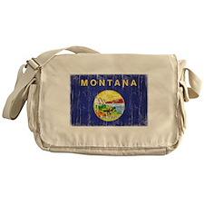 Montana Flag Distressed Messenger Bag