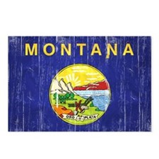 Montana Flag Distressed Postcards (Package of 8)