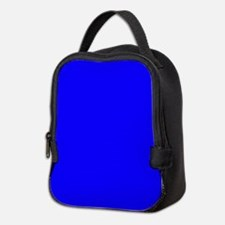 Solid Blue Neoprene Lunch Bag