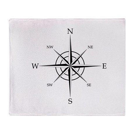 Compass Rose Throw Blanket