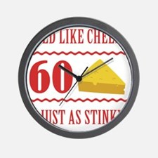 60th Birthday 'Stinky Cheese' Wall Clock
