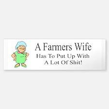 Farmers Wife Bumper Bumper Bumper Sticker