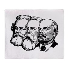 Lenin Engels Marx Throw Blanket
