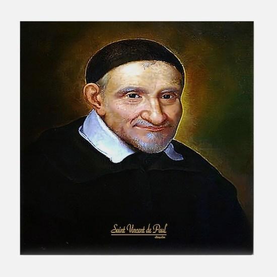 Saint Vincent de Paul Tile Coaster