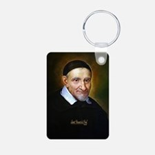 Saint Vincent de Paul Aluminum Photo Keychain