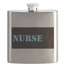 Nurse Heart Beat Flask
