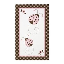Ladybugs Pink N Brown 3'X5' Area Rug