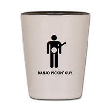 Banjo Pickin Guy Shot Glass