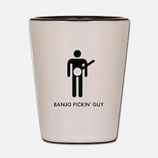 Banjo Pickin Guy Shot Glass