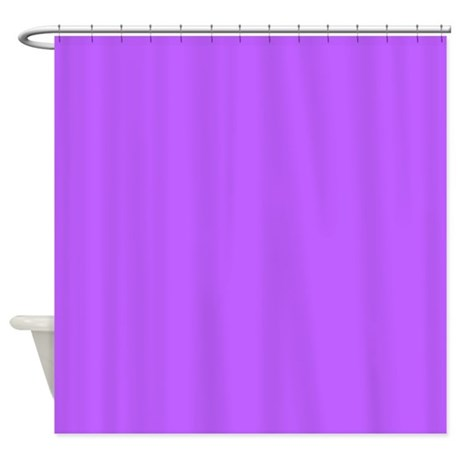 Solid Purple Shower Curtain By Colorfulpatterns