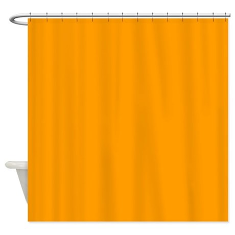 Solid Orange Shower Curtain By ColorfulPatterns