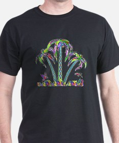 FANTASY PALM TREES AND PARROTS T-Shirt