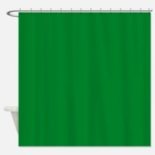 Solid Green Shower Curtain
