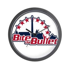 Bite the Bullet Wall Clock