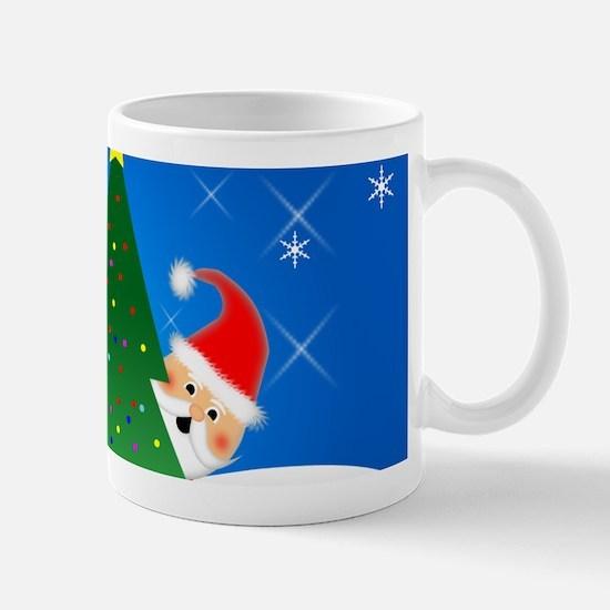 Peek a Boo Santa Mug