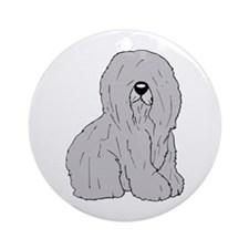 Old English Sheep Dog Ornament (Round)