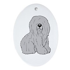 Old English Sheep Dog Oval Ornament