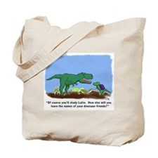 Latin T-Rex Tote Bag