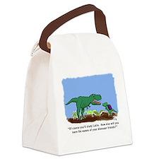 Latin T-Rex Canvas Lunch Bag