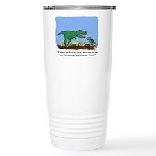 Latin T-Rex Travel Mug