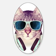 Cat with glasses Decal