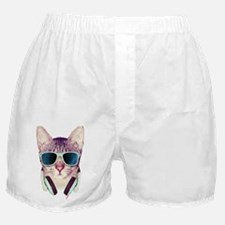 Cat with glasses Boxer Shorts