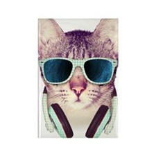Cat with glasses Rectangle Magnet