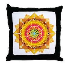 Sunny mandala Throw Pillow