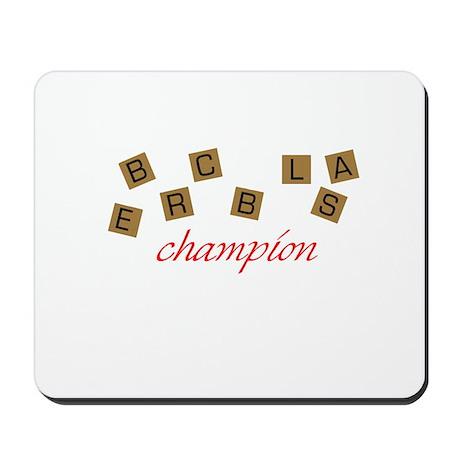 Scrabble Champion Mousepad