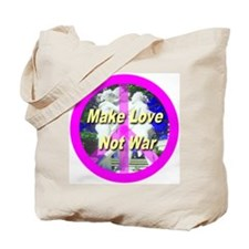 Make Love Not War Tote Bag