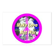 Make Love Not War Postcards (Package of 8)
