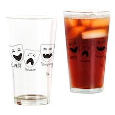comedy-tragedy-vampirey Drinking Glass