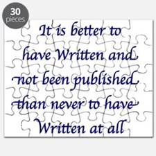 Blue - Better to have Written and not been Publish