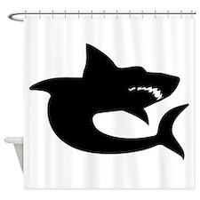 Shark Silhouette Shower Curtain
